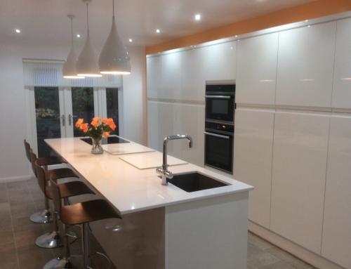 Mr Steven's White Gloss Handleless Kitchen