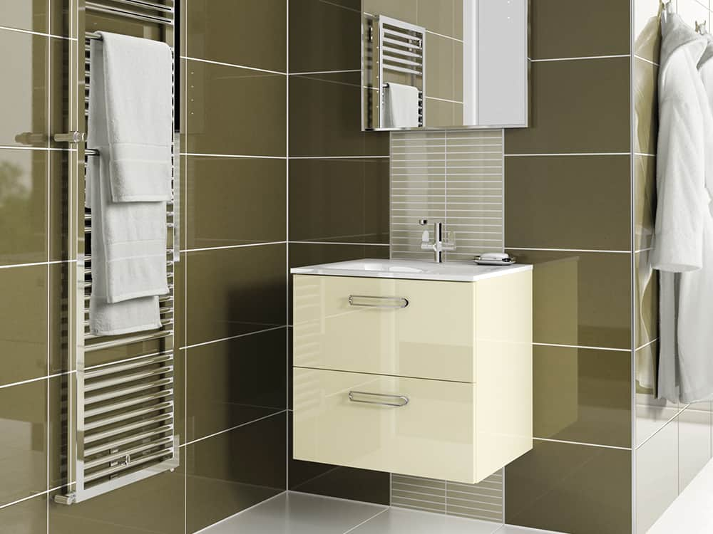 Modular - Gloss Oyster with Zen65 Basin