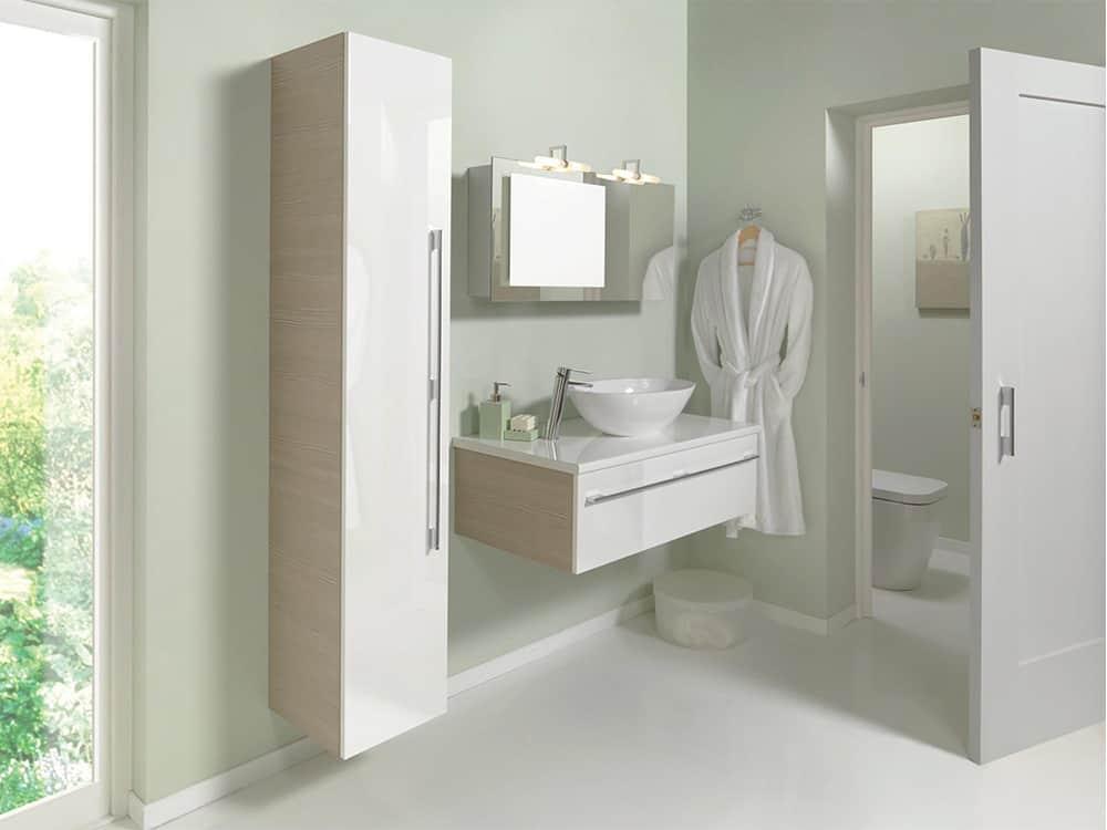 Modular - White on Avola Cabinet