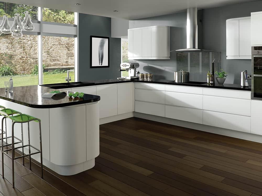 Integra Matt White Kitchen Kirkintilloch Falkirk - Kitchens