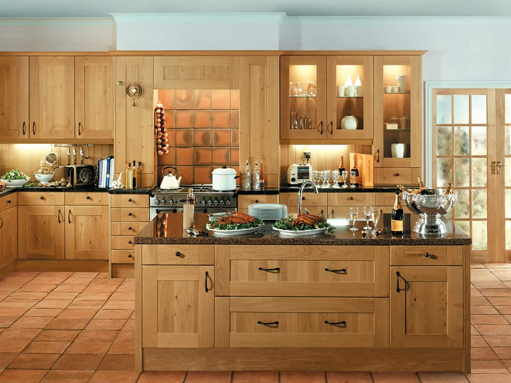 Shaker winchester oak kitchens bathrooms designed fitted in kirkintilloch falkirk Bathroom design winchester uk
