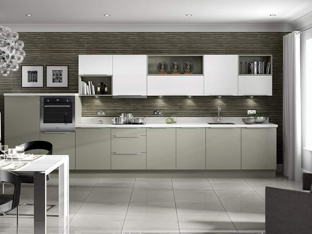 Metro White Dakar Kitchen Kirkintilloch Falkirk - Modern Kitchens