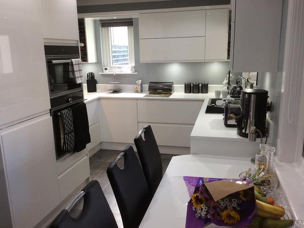 White Gloss Handless Kitchen Kitchens Bathrooms