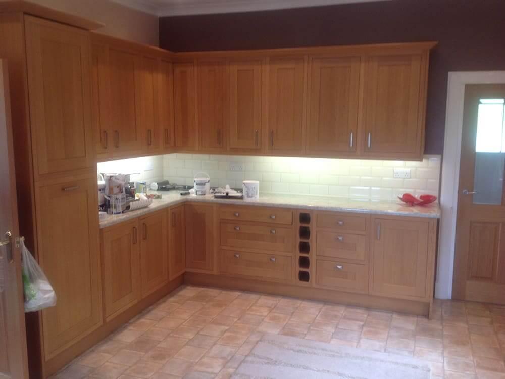 kitchen before - Bruce McRaes New White Gloss Kitchen