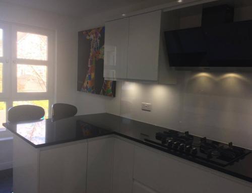 Andrea Martin White and Black Gloss Kitchen