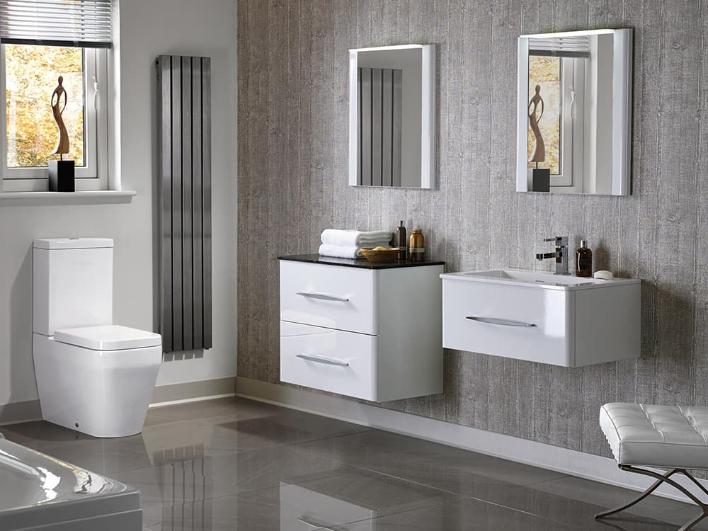 Modular Trevi Gloss White Kitchens Bathrooms