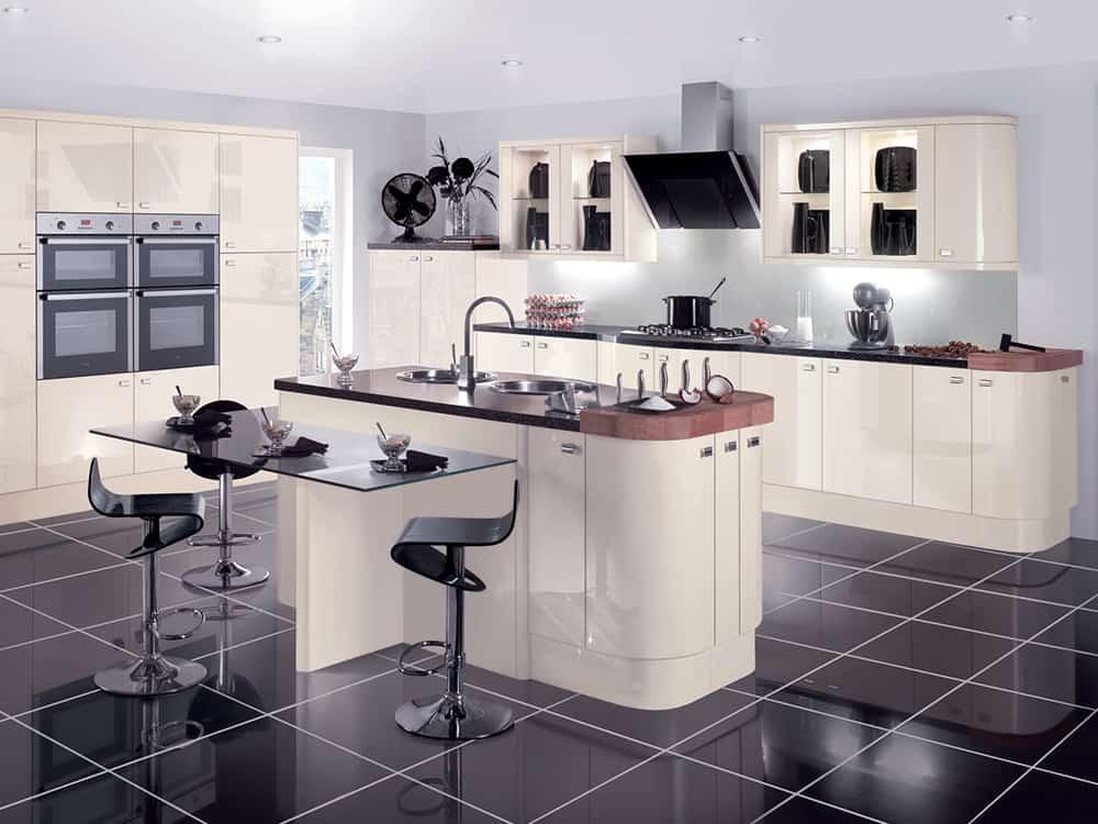 Gloss Oyster Kitchen Kirkintilloch Falkirk - Kirsty McLaren