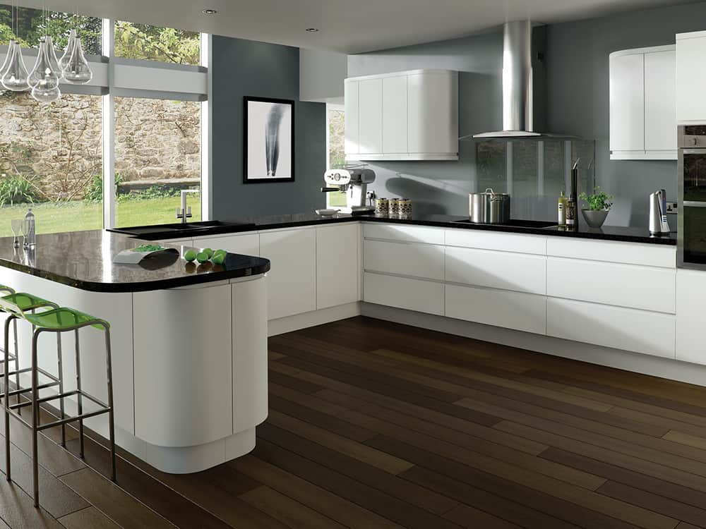 Integra Matt White Kitchen Kirkintilloch Falkirk - Modern Kitchens