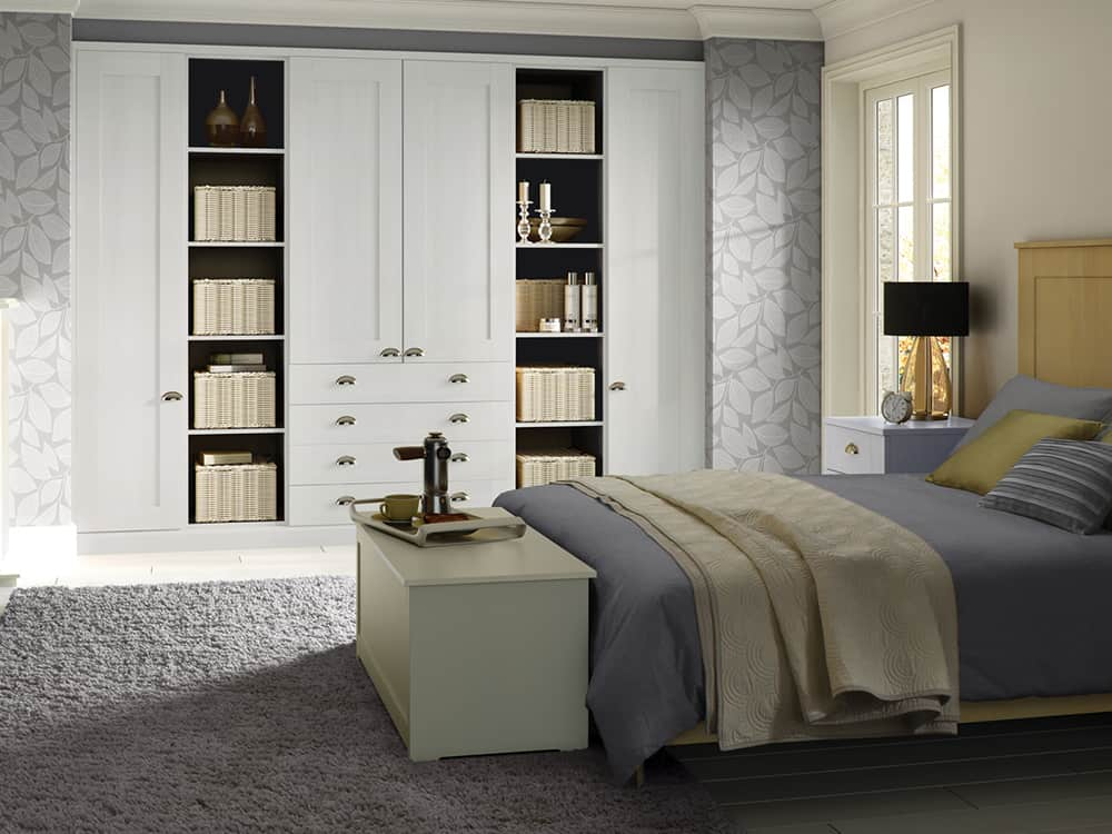 Pendle White Fitted Bedroom Kirkintilloch - Bedrooms