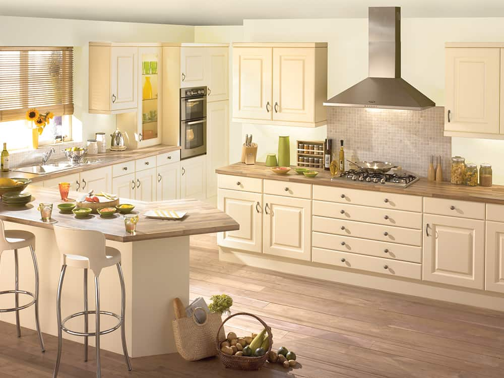 Reviva Cream Kitchen Kirkintilloch Falkirk - Traditional Kitchens
