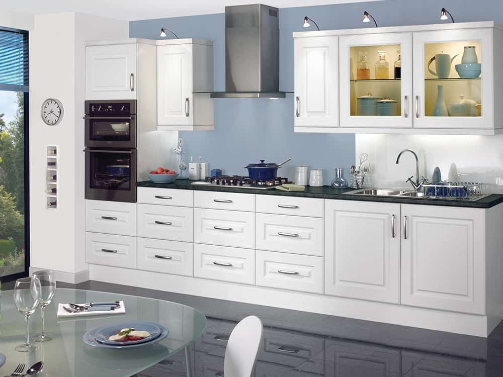 Reviva White Kitchen Kirkintilloch Falkirk - Traditional Kitchens