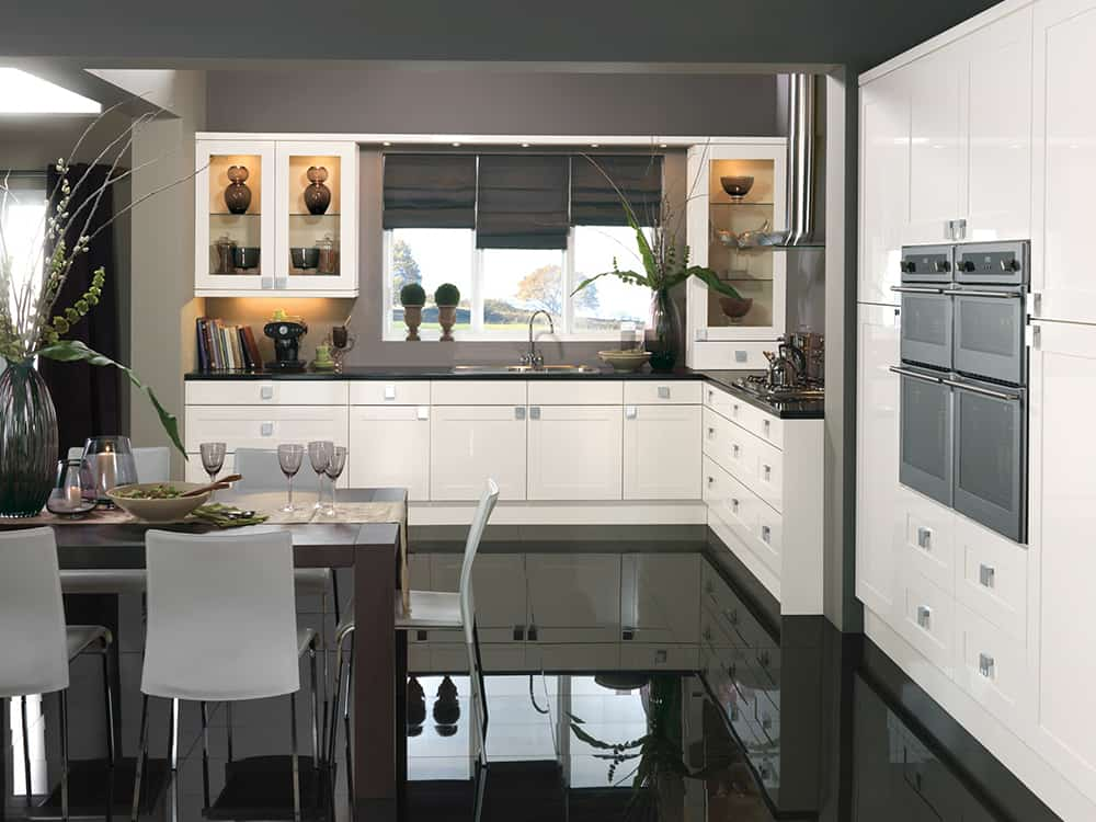 Solent Gloss Whirte Kitchen Kirkintilloch Falkirk - Traditional Kitchens