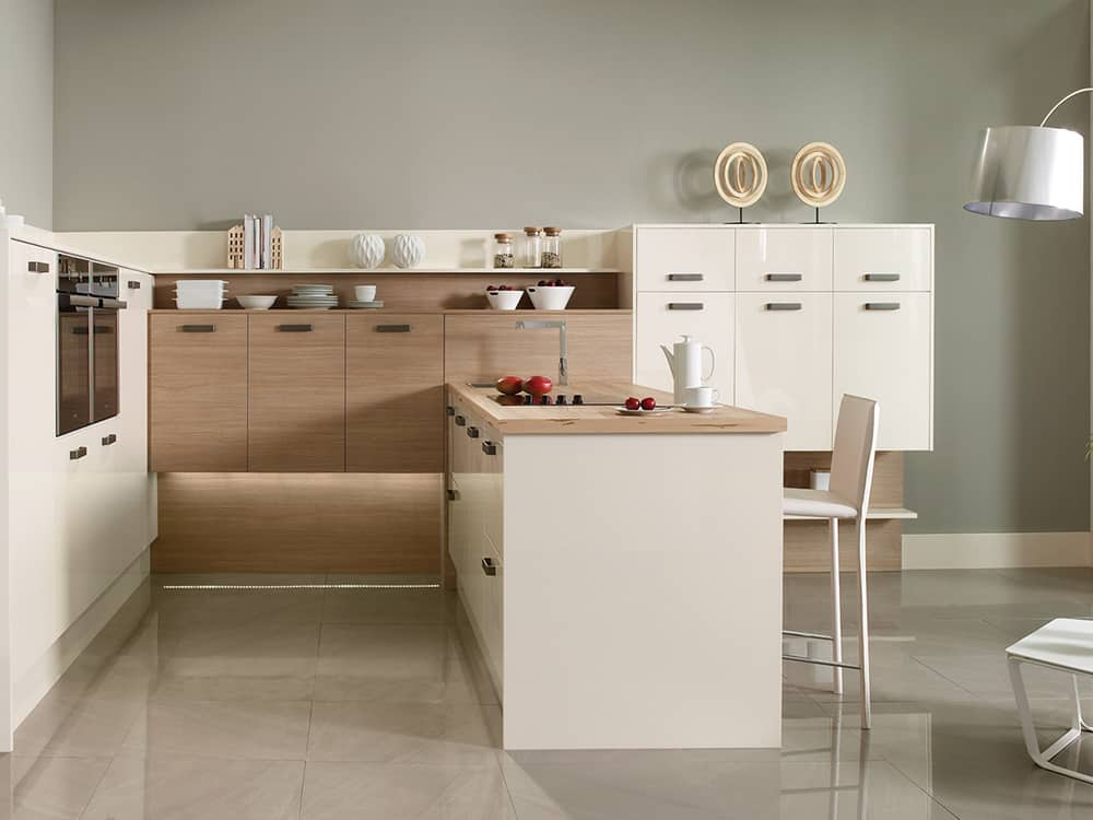 gloss oyster tempo aragon oak - Modern Kitchens