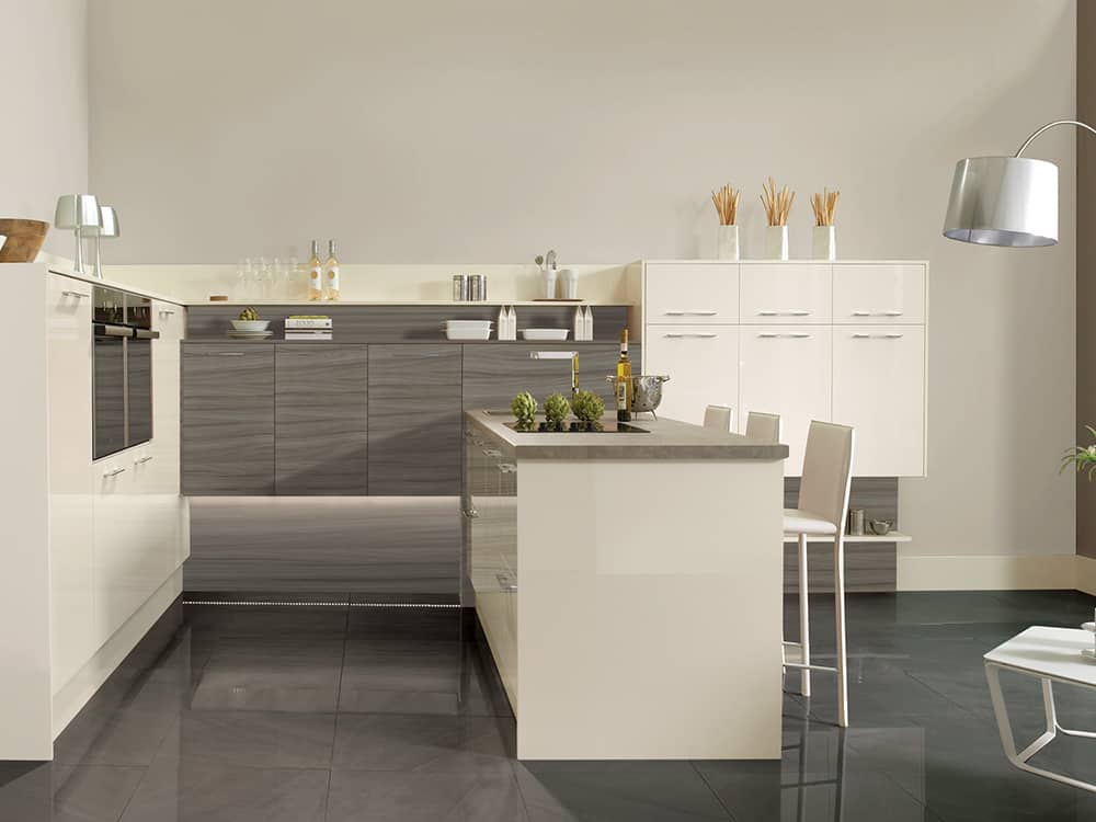 gloss oyster tempo driftwood - Modern Kitchens