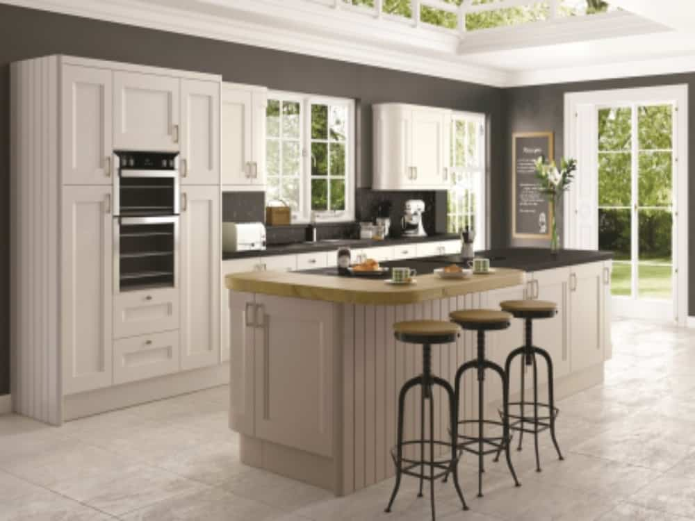 Haddington Jute and Bleach Stone - Traditional Kitchens
