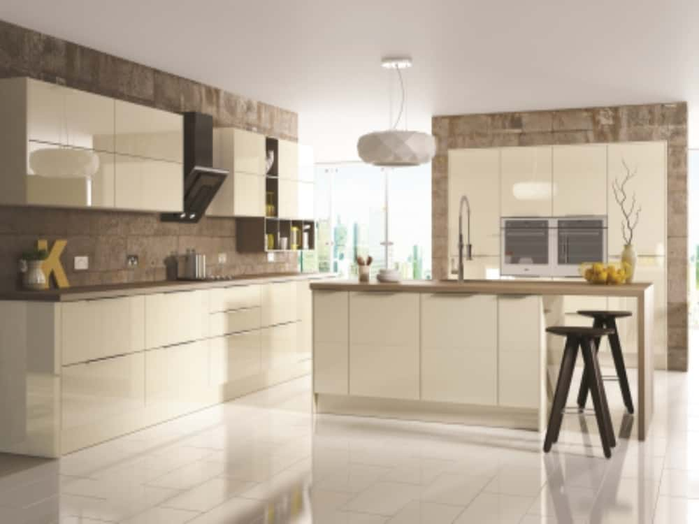 Image Gloss Oyster - Modern Kitchens