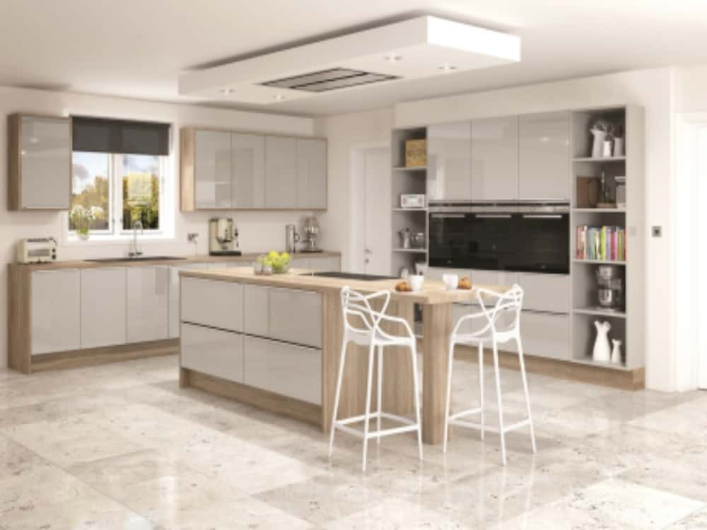 Image Linea Grey Gloss Mist - Modern Kitchens