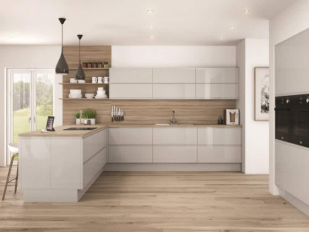Integra Gloss Grey Mist - Modern Kitchens