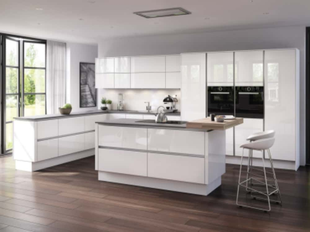Moderna Image Gloss White alternative set - Modern Kitchens
