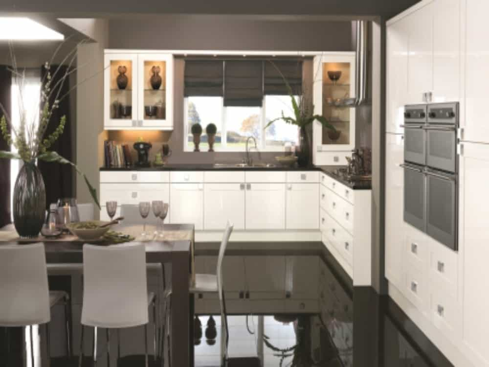 Solent Gloss White - Modern Kitchens