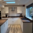 White Kitchen with Wood Worktop