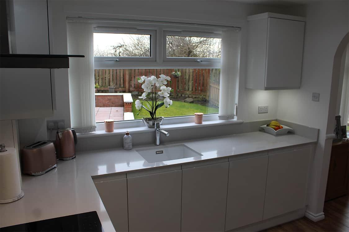 pic 18 - White Handless Gloss Door in Cumbernauld
