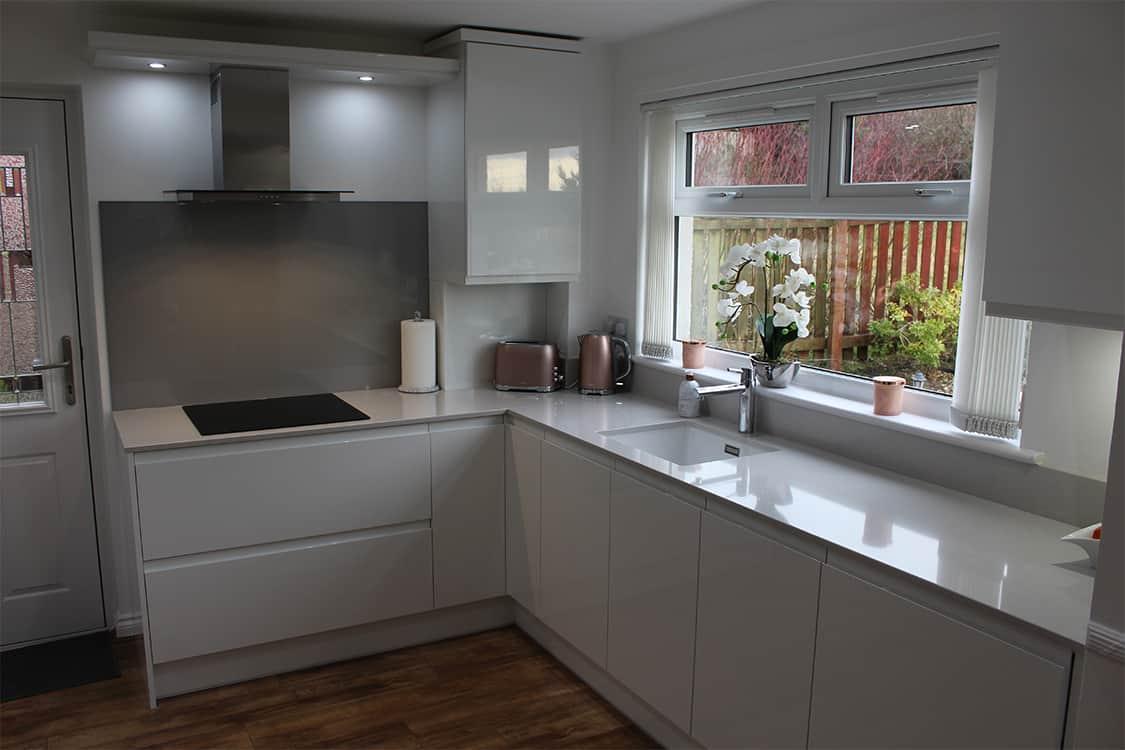 pic 19 - White Handless Gloss Door in Cumbernauld